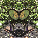 Sundance Garden Ornament Reflection. Nature'e Energy Reflections series by Debra Cortese