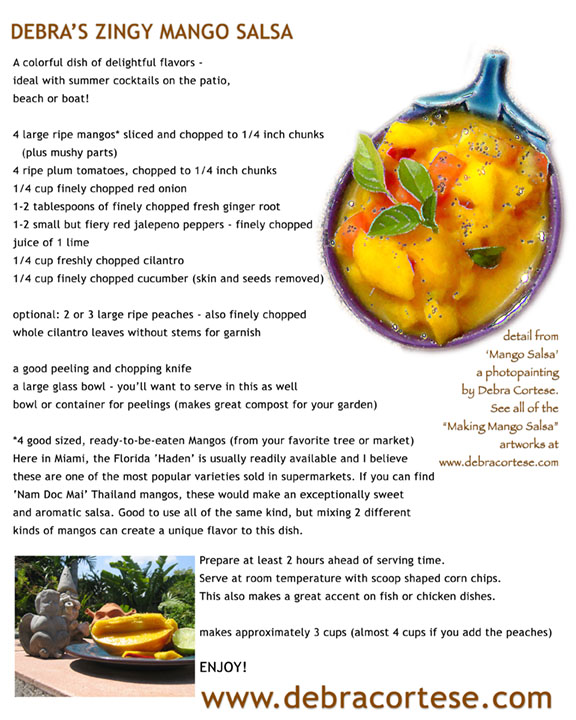 click on the recipe to see the Making Mango Salsa Art Series
