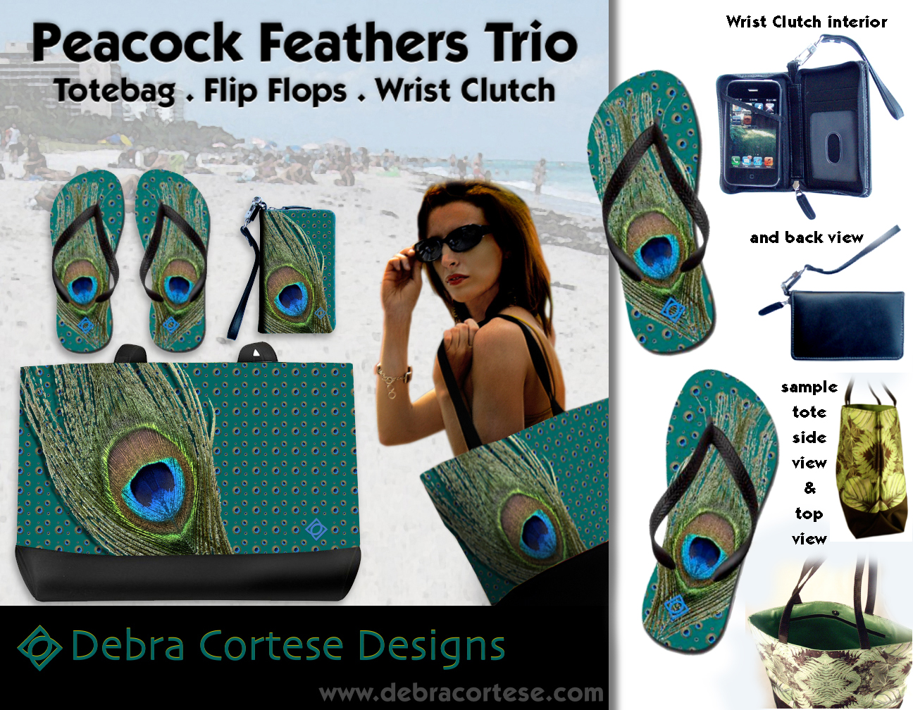 756ac28124b99c Debra Cortese Designs introduces the Peacock Feathers TRIO ...