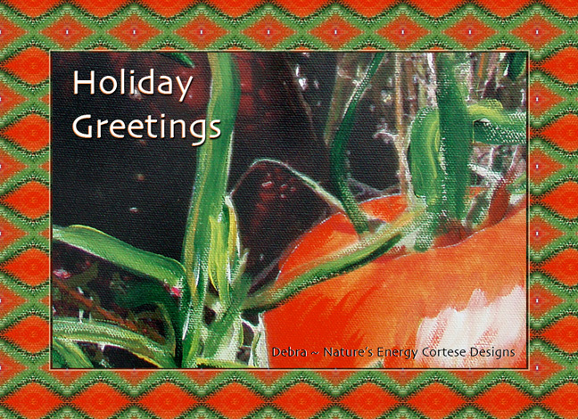 Holiday Greetings image of Garden Red Tomatoe and Holiday Green Tarragon from Debra Cortese
