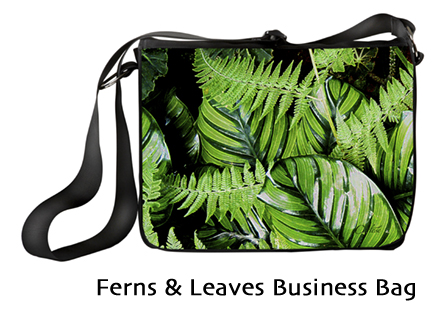 New Ferns and Leaves laptop bag by Cortese Designs