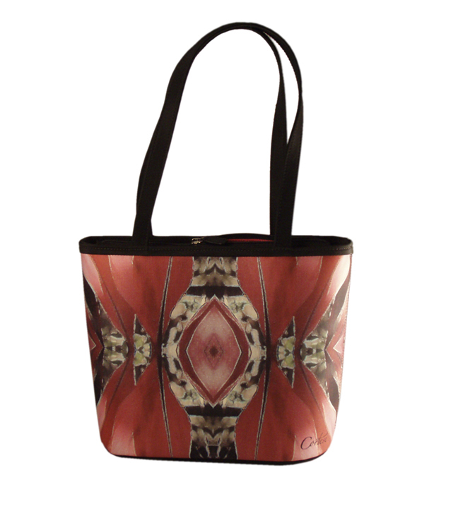 Cortese Dracena II Reflections vibrant red tote bag $99.00 Sale
