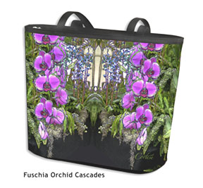 Fuschia Orchid Cascades on my Classic Totebag