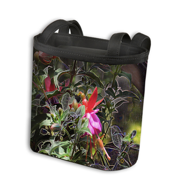 Natures Energy Cortese Design petite totebag Fuschia Flowers
