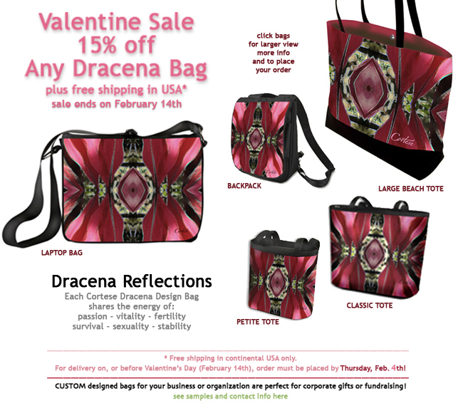 click the image to order your Red Cortese Design Bag today and save 15%