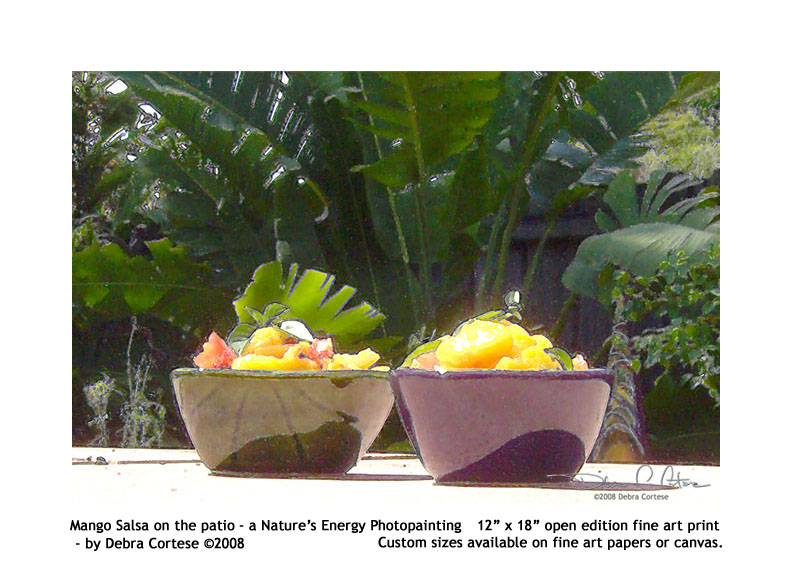 Mango Salsa on the Patio - a nature\'s energy photopainting by Debra Cortese