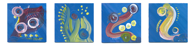 Transitions original paintings of States of Mind by Debra Cortese