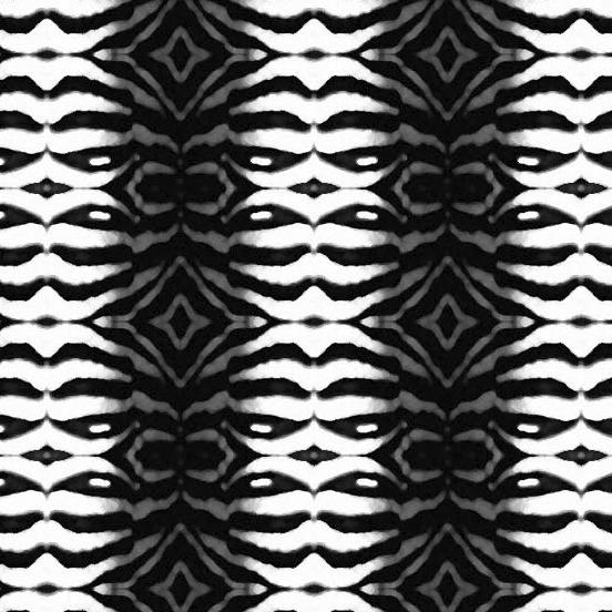 Tribal Zebra Print detail view - Debra Cortese Designs