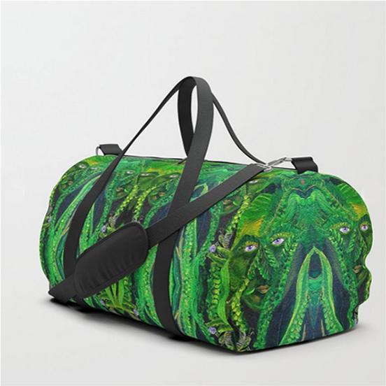 Garden Gnome Duffle Bags by Debra Cortese Designs