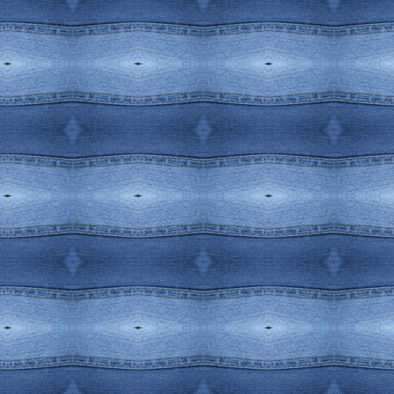 Denim Blue Waves pattern detail view - Debra Cortese Designs
