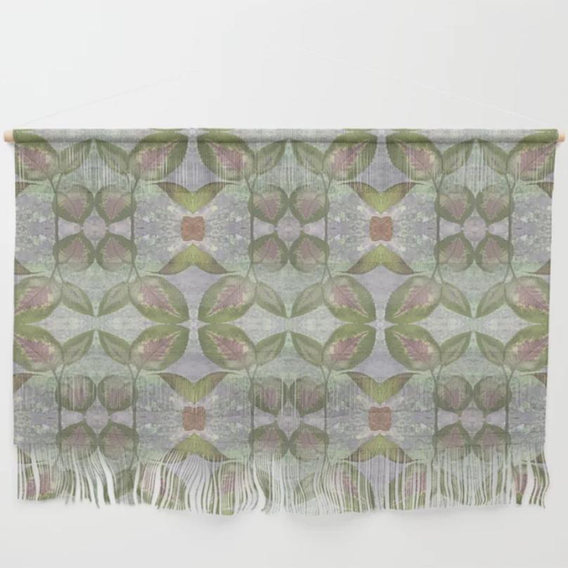 Coleus Quiet Grays Wall Hanging by Debra Cortese Designs