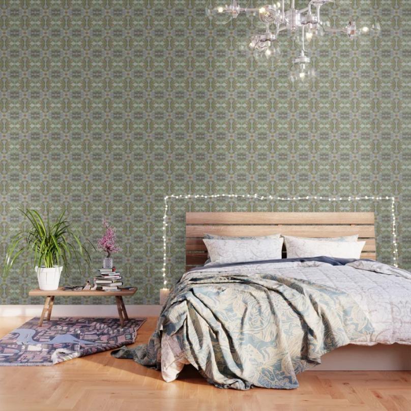 Coleus Quiet Grays Wallpaper by Debra Cortese Designs