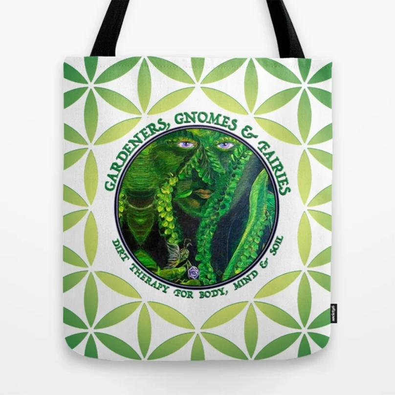 Garden Guardians Totebag by Debra Cortese Designs