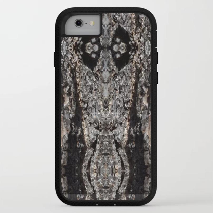 Rugged Adventure phone case in Pine Tree Bark by Debra Cortese Designs
