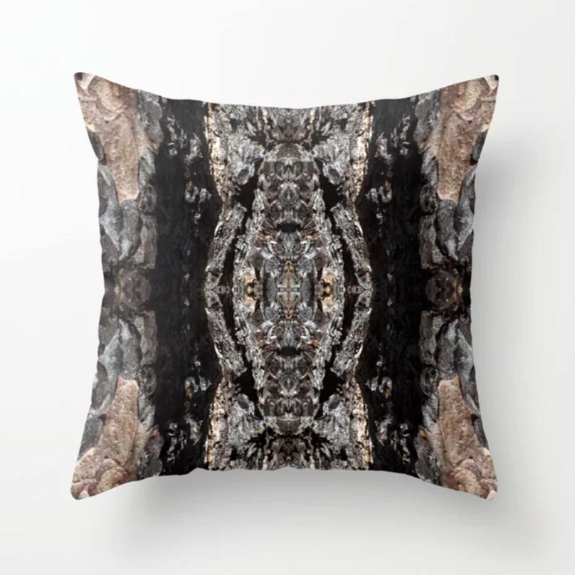 Pine Bark Throw Pillow by Debra Cortese Designs
