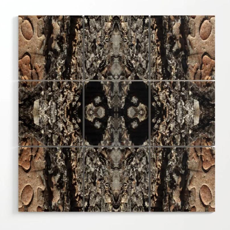 Pine Bark Wood Wall Art by Debra Cortese Designs