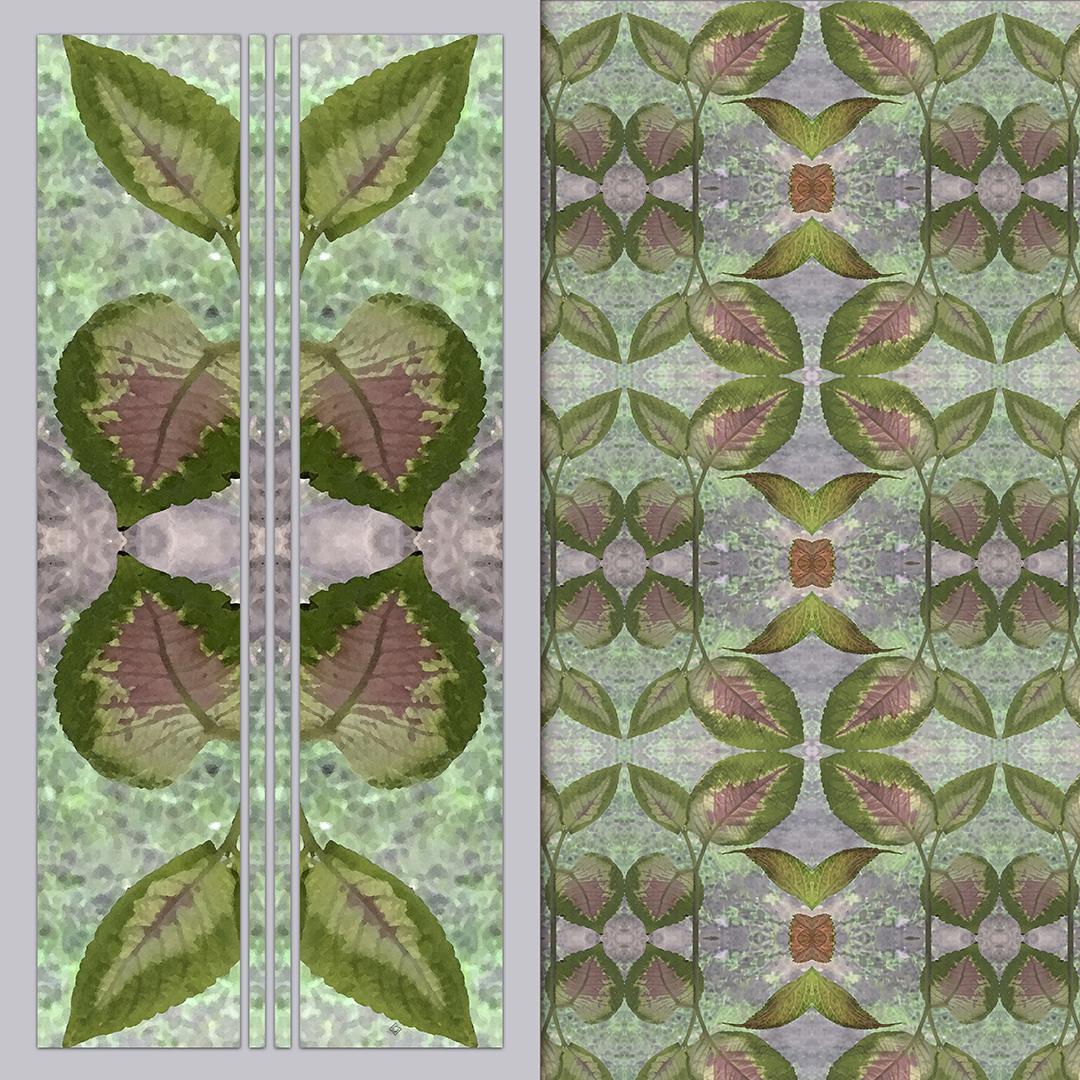 Coleus design with quiet gray accents - Debra Cortese Designs