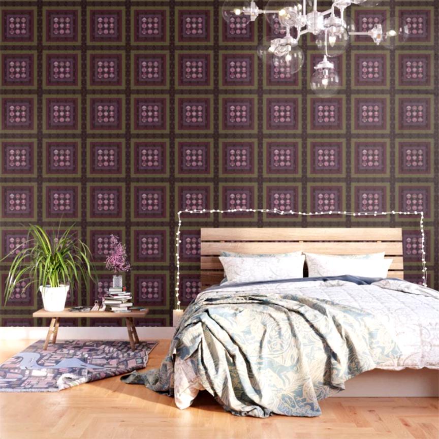 REDSHISO 9 mandalas WALLPAPER by Debra Cortese Designs